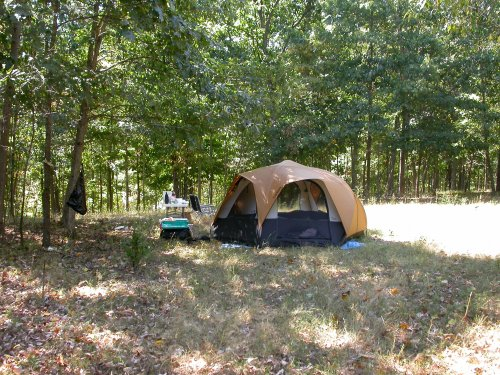 First time camping on new property.  2007